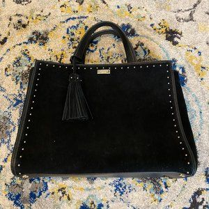 Kate Spade Black Suede Crossbody with Tassel